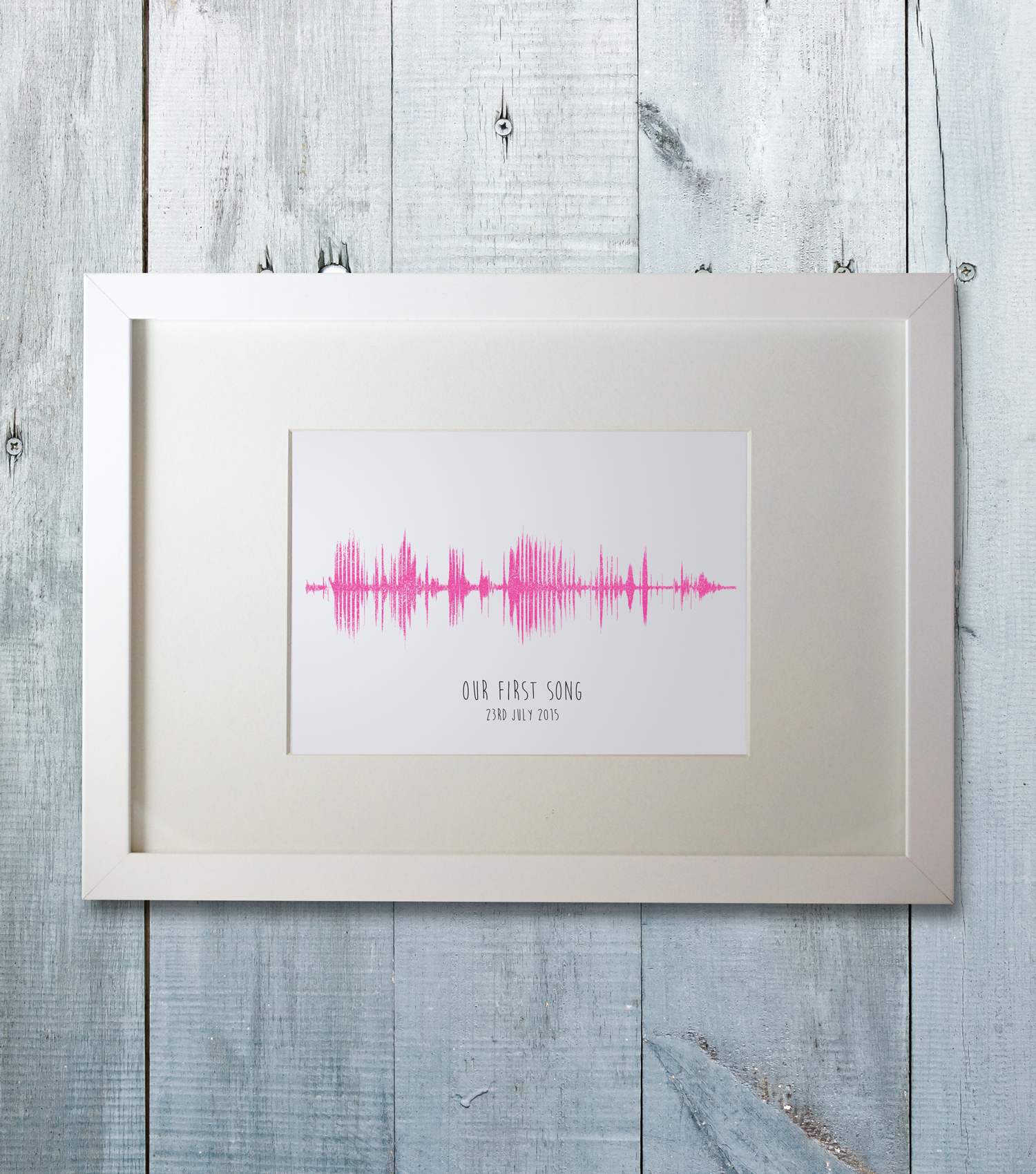 Personalised sound wave frame using your favourite song - The ...
