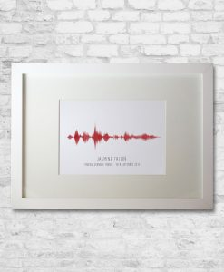 Personalised Laugh Sound Wave in White