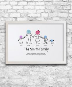 Button family frame